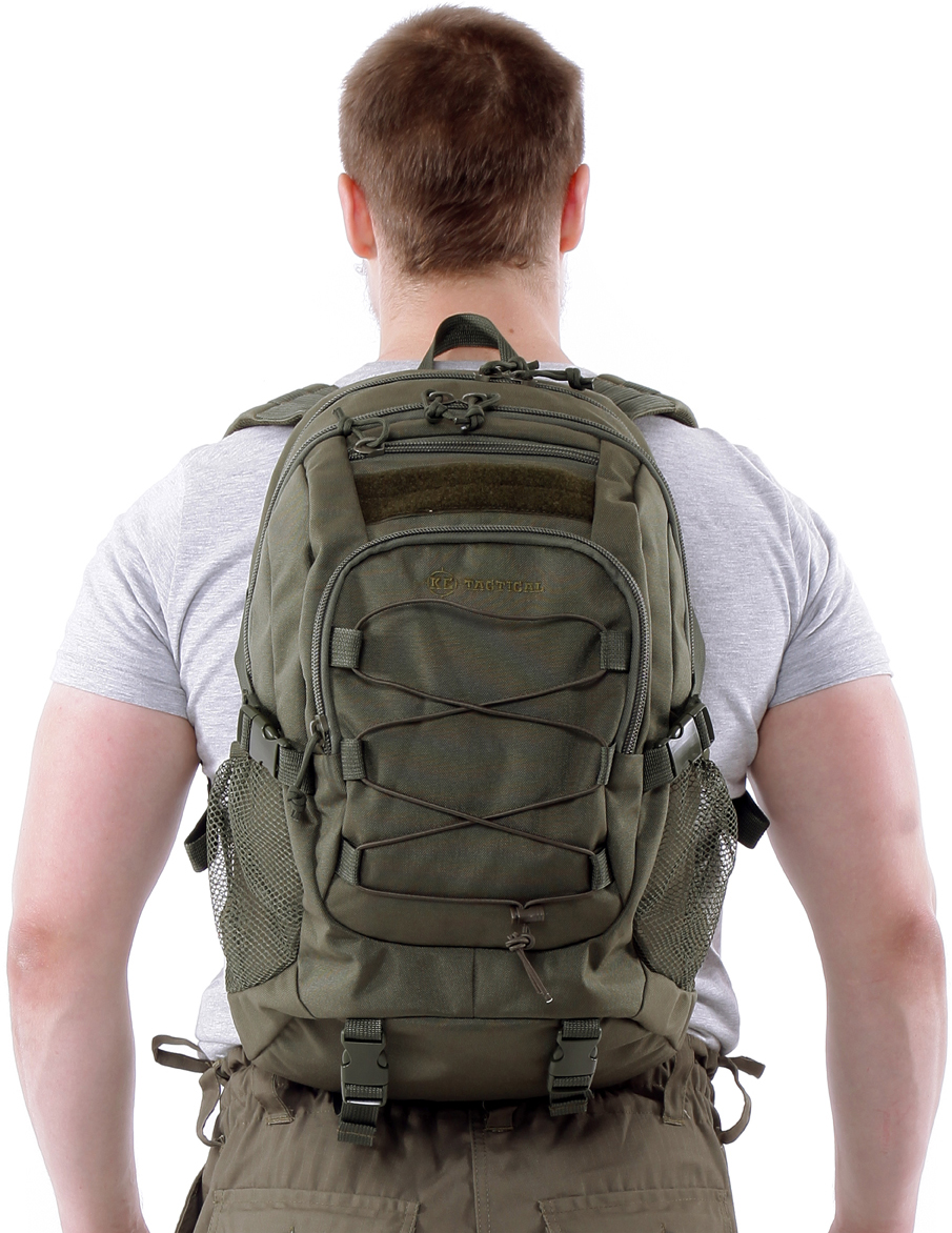 Рюкзак туристический KE Tactical  Mission , цвет: темно-зеленый, 25 л. 9020102 - Туристические рюкзаки