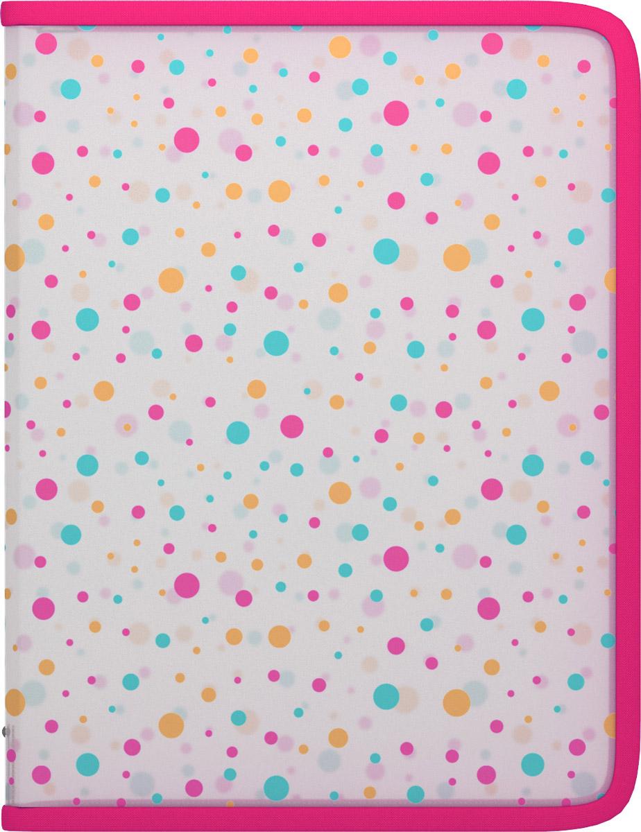 Erich Krause Папка на молнии Dots цвет мультиколор формат A445461Папка Erich Krause Dots на молнии предназначена для хранения тетрадей, рисунков и прочих бумаг с максимальным форматом А4. Папка выполнена из прочного материала и содержит одно отделение. Папка оформлена цветным узором.Закрывается она на застежку- молнию.С папкой Erich Krause Dots важные бумаги будут в полной сохранности.