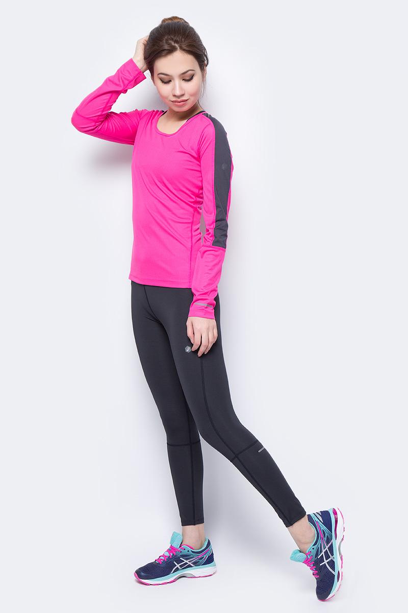 Футболка с длинным рукавом женская Asics LS Top, цвет: розовый. 154253-0692. Размер M (46)154253-0692Футболка с длинным рукавом женский Asics LS Top выполнена из полиэстера. Модель с круглым вырезом горловины.