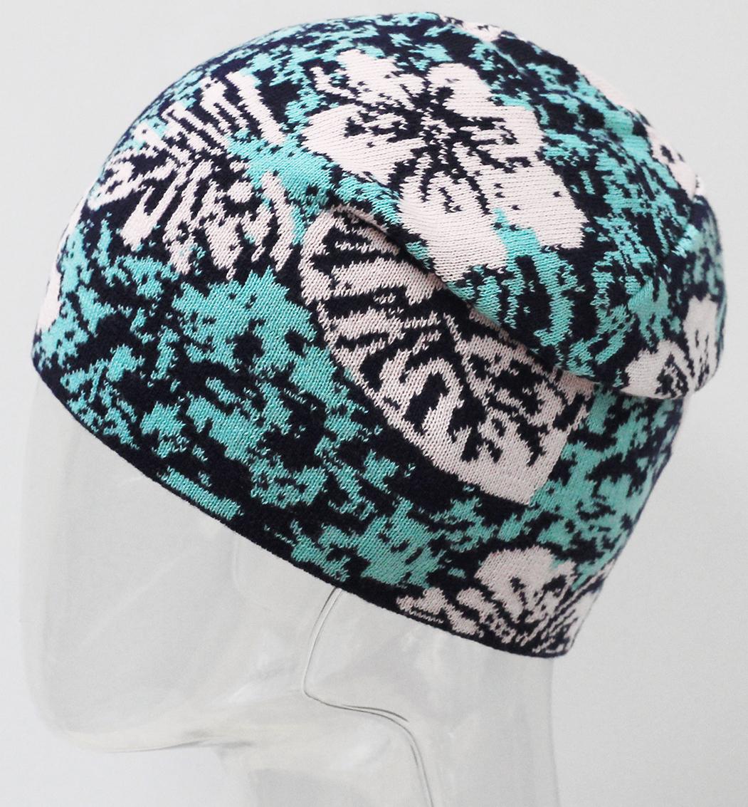 Шапка для девочки Marhatter, цвет: светло-зеленый. MFH7266. Размер 55/56MFH7266Подростковая хлопковая шапка с современным дизайном. Яркое сочетание цветов жаккардового узора дополнит образ современной молодежи. Отлично подойдет для ежедневных прогулок в прохладную погоду. Размер, доступный для заказа, является обхватом головы.