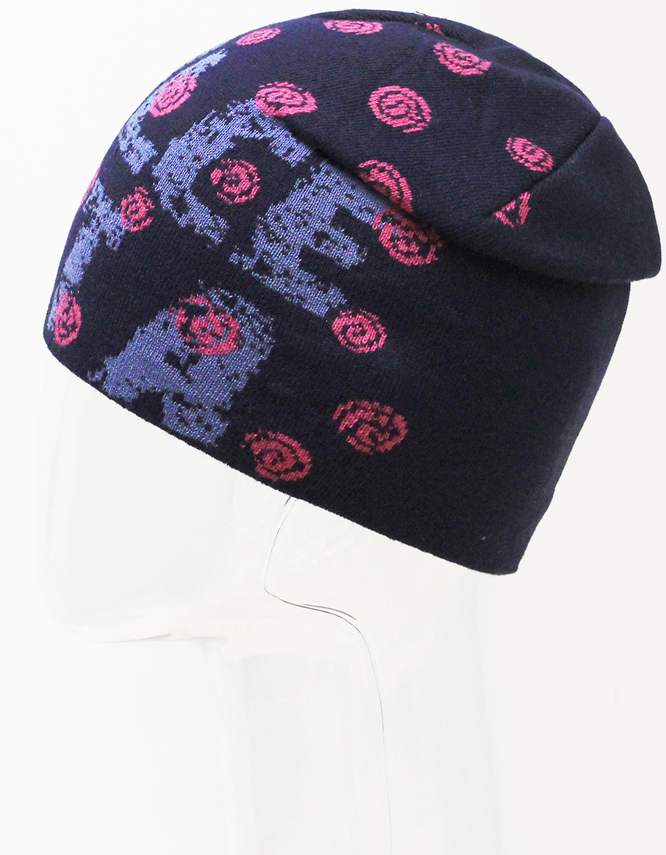 Шапка для девочки Marhatter, цвет: темно-синий. MFH7279. Размер 55/56