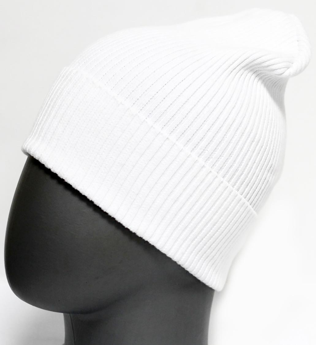 Шапка для девочки Marhatter, цвет: белый. MFH5605. Размер 55/56MFH5605Стильная однотонная шапка с отворотом, выполненная из хлопка. Отлично подойдет для ежедневных прогулок. Размер, доступный для заказа, является обхватом головы.