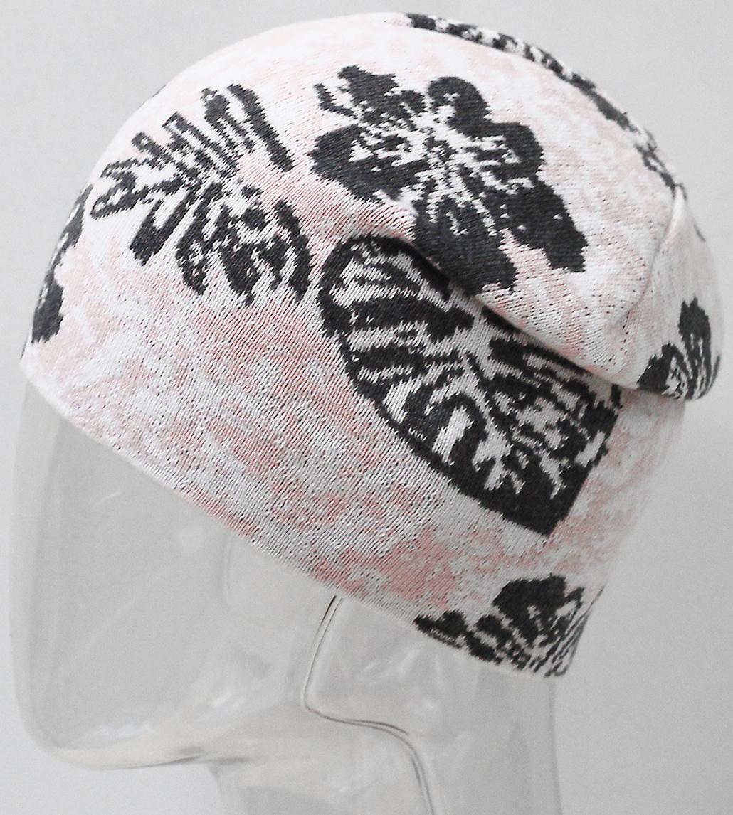 Шапка для девочки Marhatter, цвет: светло-розовый. MFH7266. Размер 55/56MFH7266Подростковая хлопковая шапка с современным дизайном. Яркое сочетание цветов жаккардового узора дополнит образ современной молодежи. Отлично подойдет для ежедневных прогулок в прохладную погоду. Размер, доступный для заказа, является обхватом головы.