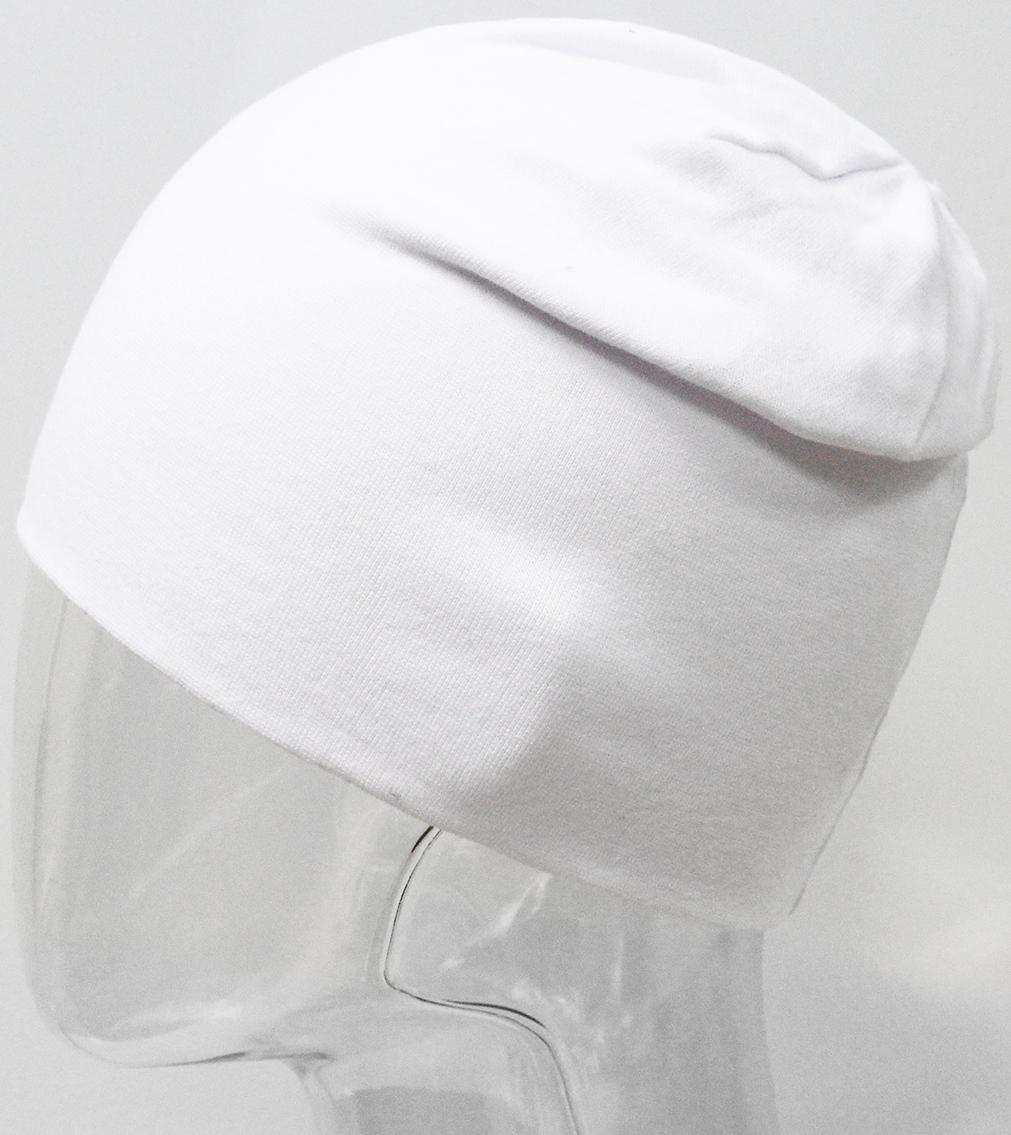 Шапка для девочки Marhatter, цвет: белый. MFH7393/5. Размер 55/56MFH7393/5Двойная шапка удлиненной формы из хлопка с содержанием лайкры. Прекрасно подойдет стильным и современным модницам.Размер, доступный для заказа, является обхватом головы.