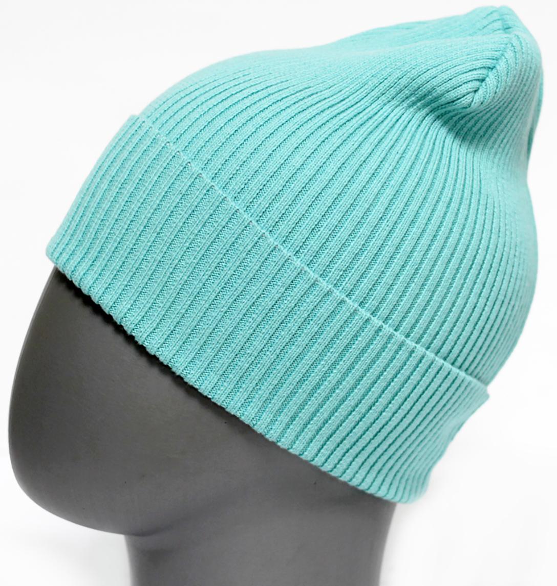 Шапка для девочки Marhatter, цвет: зеленый. MFH5605. Размер 55/56MFH5605Стильная однотонная шапка с отворотом, выполненная из хлопка. Отлично подойдет для ежедневных прогулок. Размер, доступный для заказа, является обхватом головы.