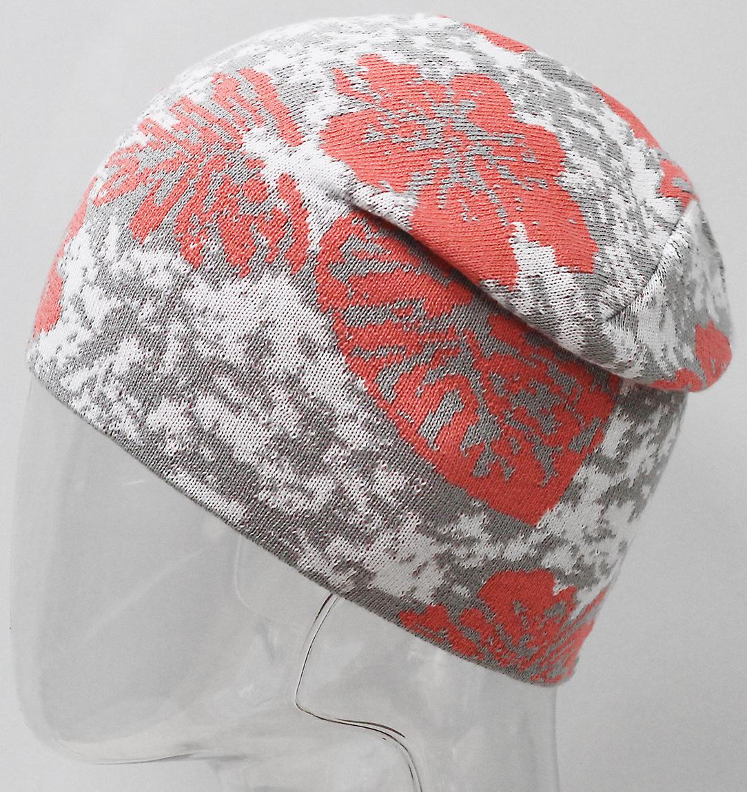 Шапка для девочки Marhatter, цвет: коралловый. MFH7266. Размер 55/56MFH7266Подростковая хлопковая шапка с современным дизайном. Яркое сочетание цветов жаккардового узора дополнит образ современной молодежи. Отлично подойдет для ежедневных прогулок в прохладную погоду. Размер, доступный для заказа, является обхватом головы.