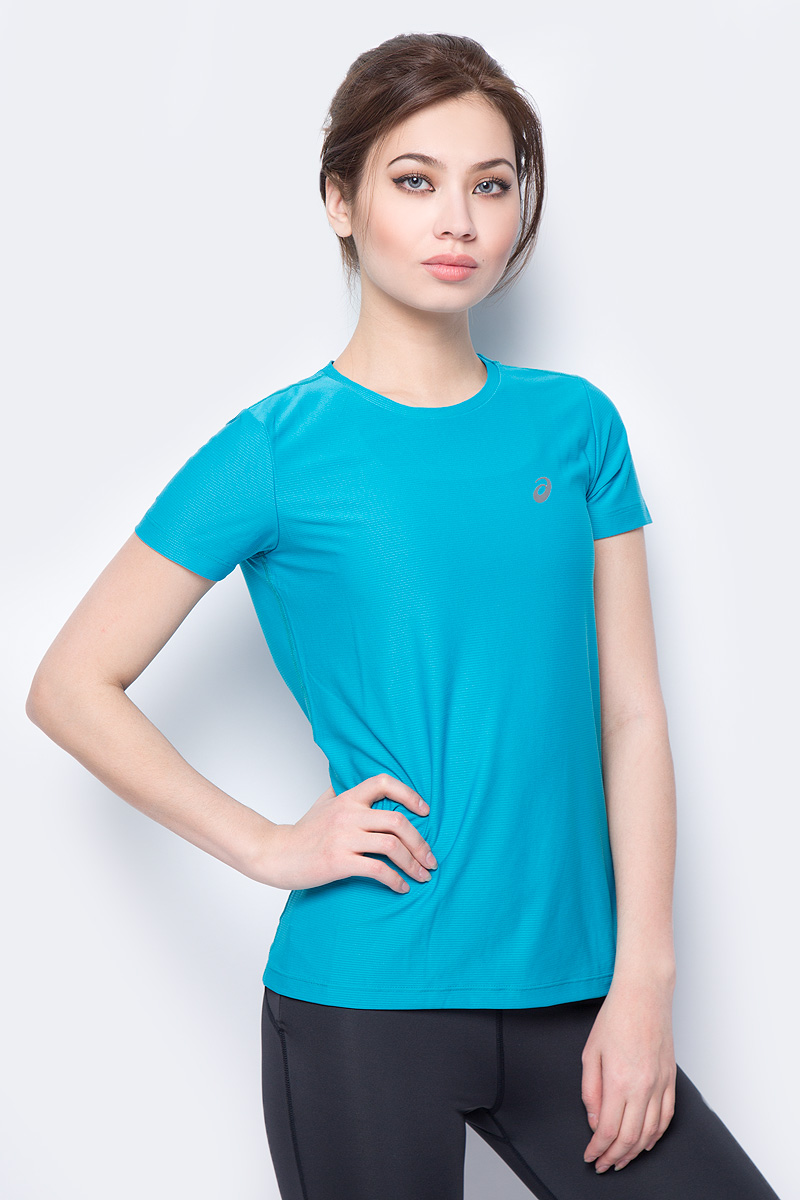 Футболка женская Asics SS Top, цвет: бирюзовый. 134104-8098. Размер S (44) футболка element signature ss red