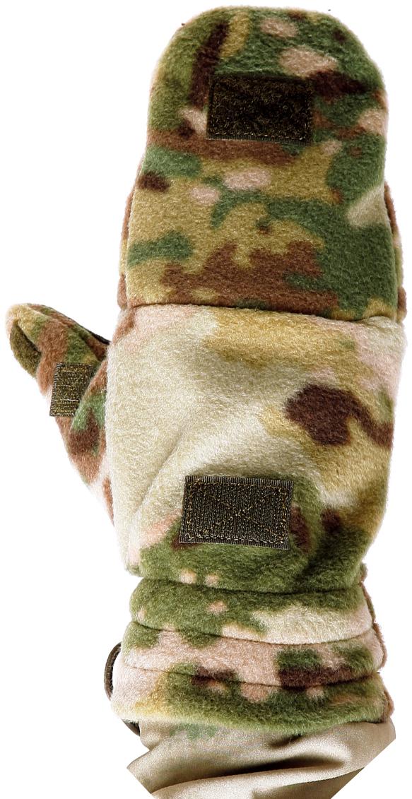 Варежки спортивные Keotica, цвет: коричневый, зеленый. 1081103. Размер L/XL (8/8,5)