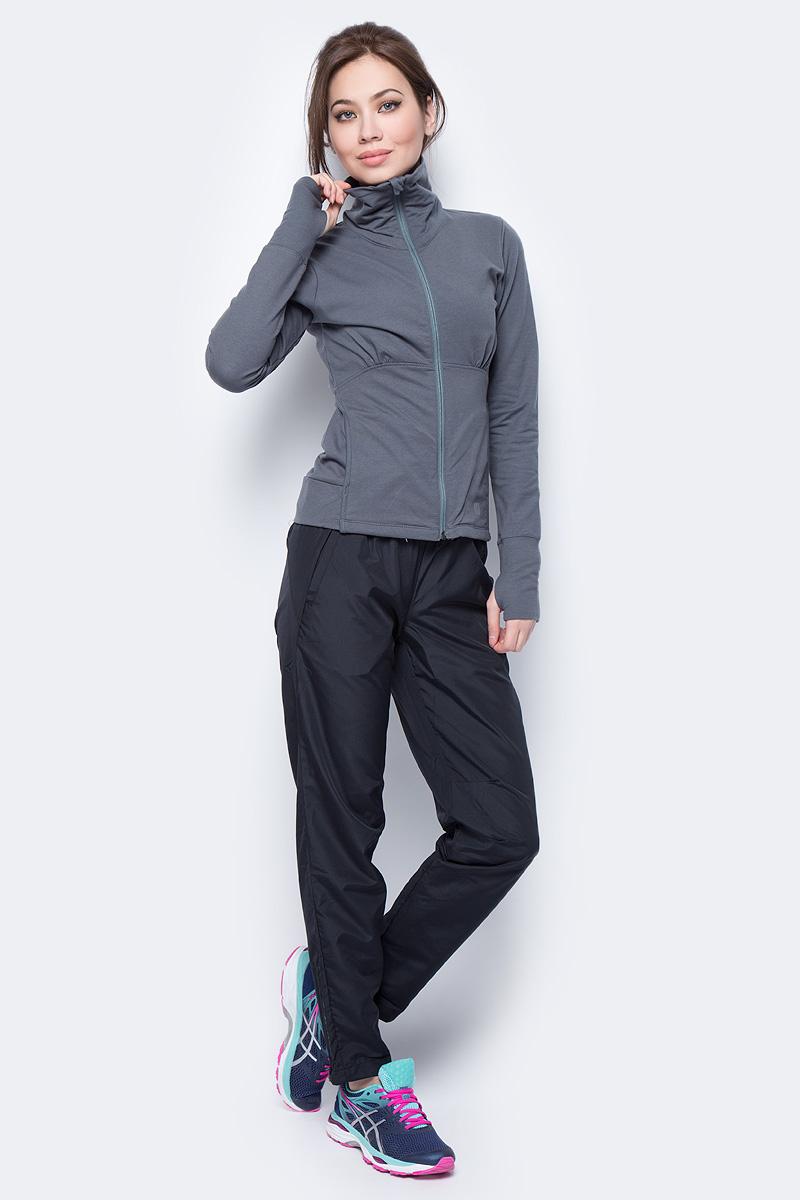 Ветровка женская Wilson Knit Jacket, цвет: серый. WRA723605. Размер L (50)WRA723605Ветровка от Wilson выполнена из высококачественного материала с добавлением хлопка. Легкая модель с длинными рукавами и воротником-стойкой застегивается на молнию.