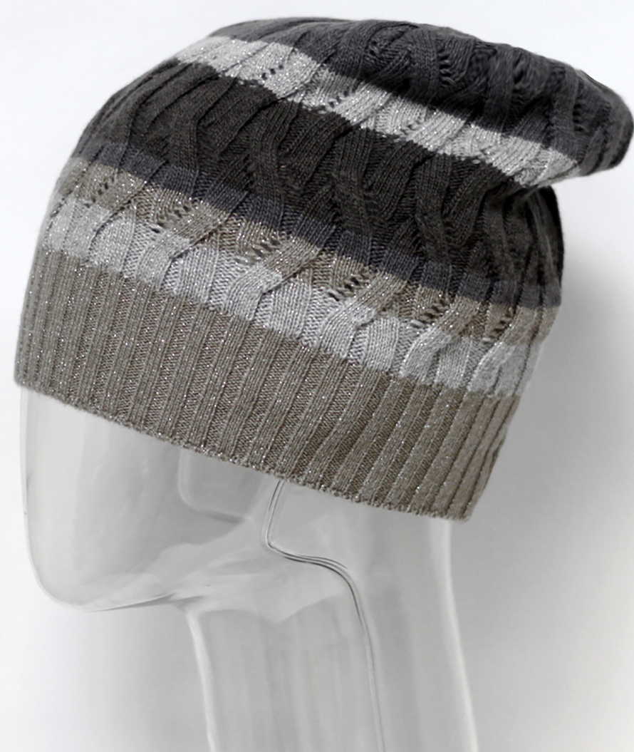 Шапка женская Marhatter, цвет: серо-бежевый. MWH5635. Размер 56/58 шапка женская r mountain цвет бежевый розовый ice 8521 размер 54 61