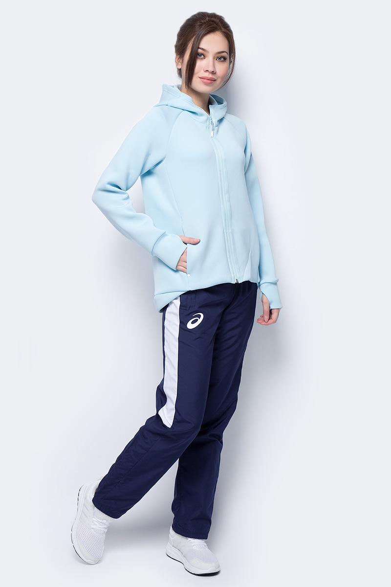 Худи женское Asics Full Zip Hoodie, цвет: голубой. 153384-8099. Размер L (48)153384-8099