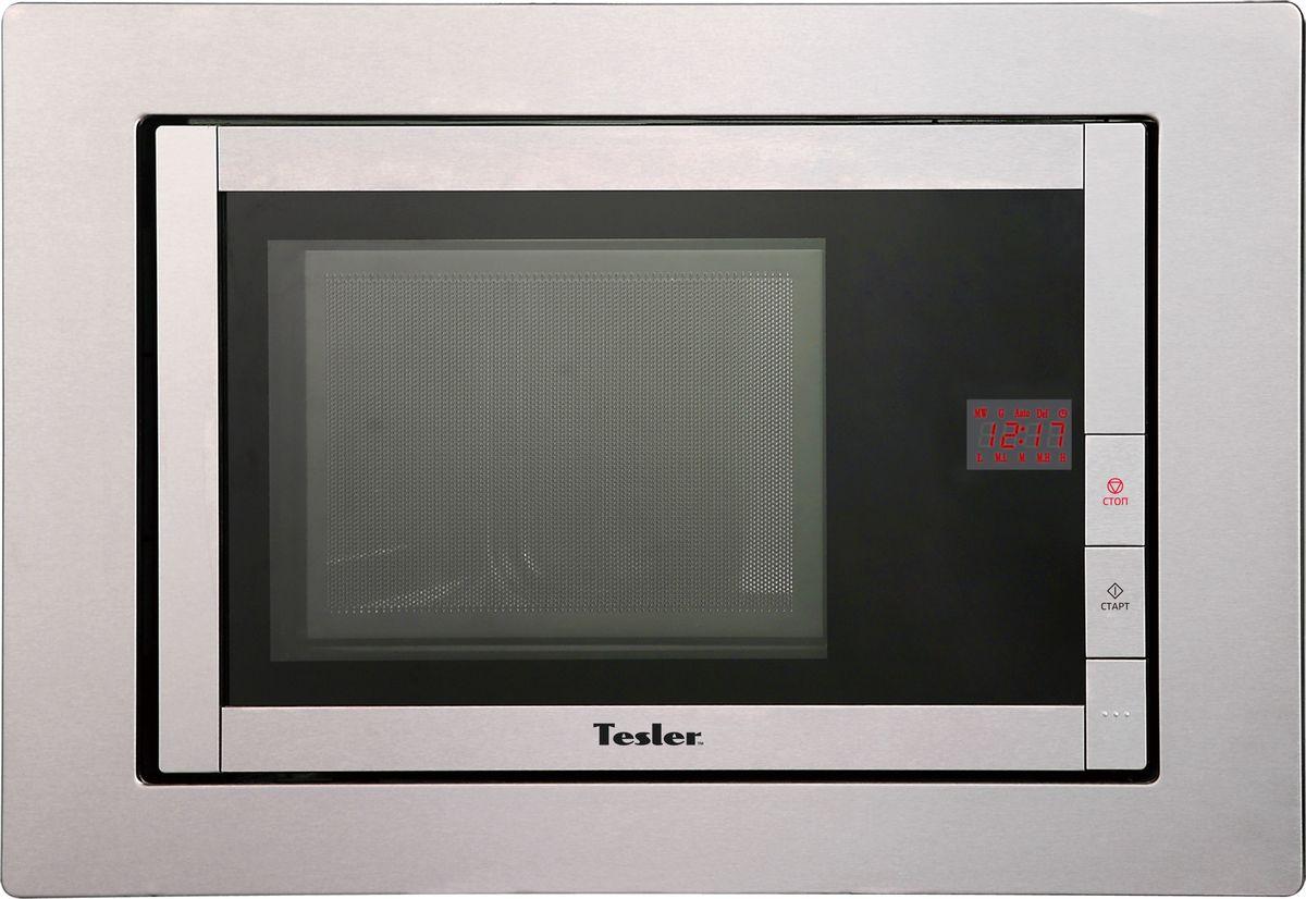 Tesler MEB-2070X, Silver микроволновая печь встраиваемаяMEB-2070XСтильная микроволновая печь с грилем объемом 20 литров. Есть восемь программ и блюдо для создания хрустящей корочки. 5 уровней мощности. Открывание дверцы - кнопка. Автоматическое приготовление. Звуковой сигнал отключения.