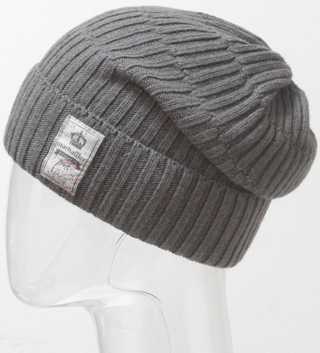 Шапка мужская Marhatter, цвет: темно-серый. MMH6711. Размер 57/59MMH6711Тонкая шапка из твидовой пряжи с добавлением шерсти мериноса. Модель дополнена стильным шевроном, который подчеркивает индивидуальность. Размер, доступный для заказа, является обхватом головы.