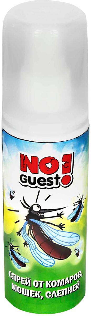"""Спрей от комаров """"NoGuest!"""" обеспечивает эффективную и надежную защиту от укусов комаров,  мошек, слепней. Лосьон в форме спрея обеспечивает легкое, удобное и экономичное нанесение. Время  действия - до 3 часов. Не оставляет пятен на одежде. Обладает приятным и нежным ароматом. Содержание ДЭТА  15%."""
