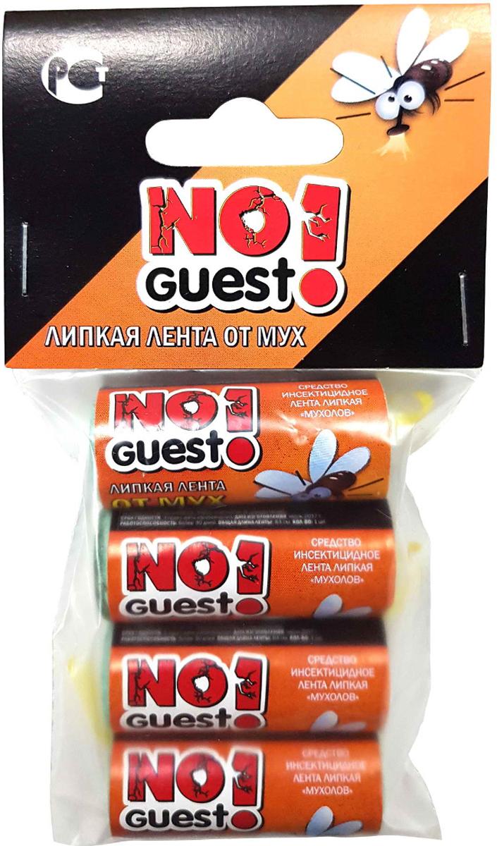 Лента липкая от мух NoGuest!, 4 шт закрытая душевая кабина aquapulse 4121d grey black