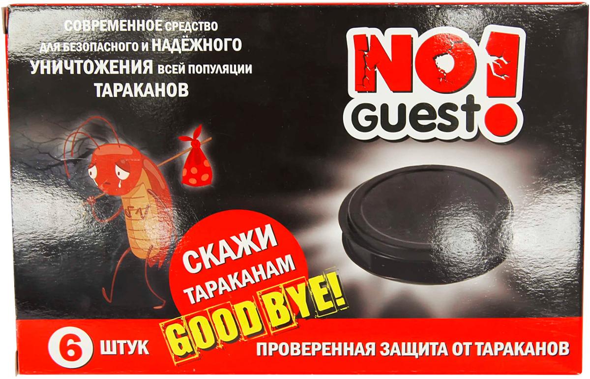 """В комплект """"NoGuest!"""" входит 6 пластиковых дисков - ловушек от тараканов с активным действующим веществом в виде геля. Снизу ловушки оснащены клеевой частью, что позволяет разместить их даже на вертикальных поверхностях."""