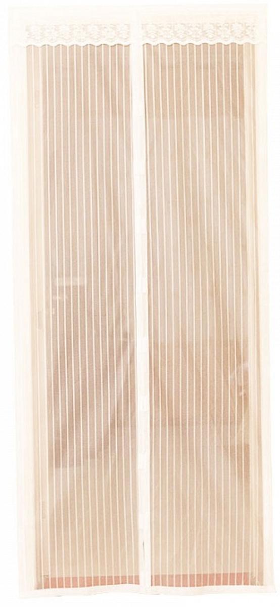 Сетка антимоскитная на дверь, с магнитами, 100 х 210 смСЗ.060035Сетка антимоскитная от насекомых на магнитной ленте универсальна в использовании: подвесьте ее при входе в садовый дом или балкон, чтобы предотвратить попадание комаров внутрь жилища.