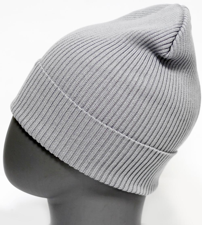 Шапка для девочки Marhatter, цвет: светло-серый. MFH5605. Размер 55/56MFH5605Стильная однотонная шапка с отворотом, выполненная из хлопка. Отлично подойдет для ежедневных прогулок. Размер, доступный для заказа, является обхватом головы.