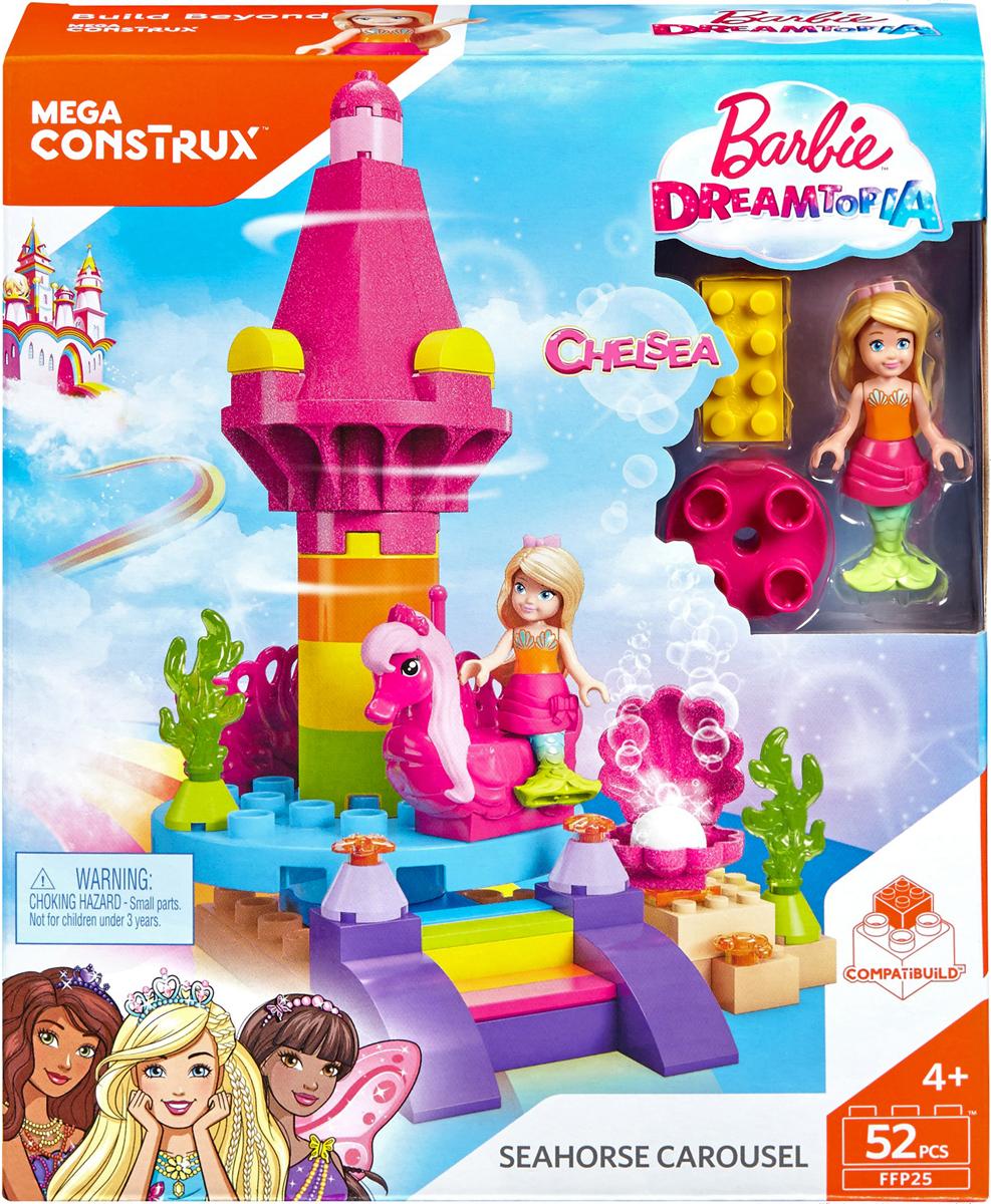 цена на Mega Bloks Barbie Конструктор Пляжная карусель