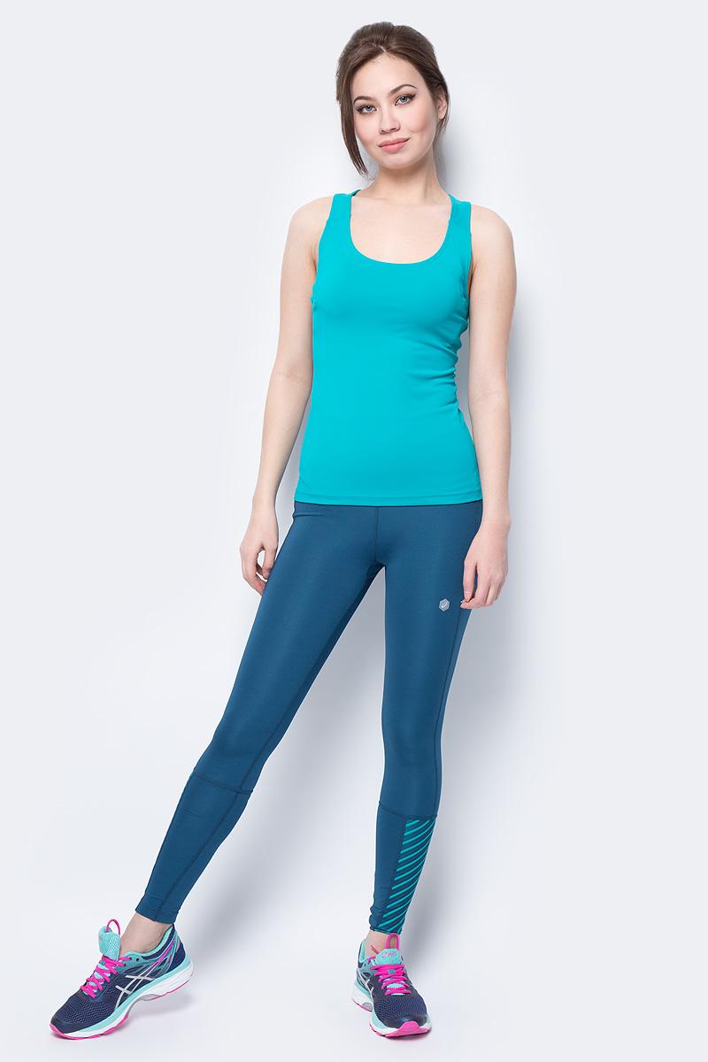 Тайтсы для бега женские Asics Highwaist Tight, цвет: темно-бирюзовый. 154563-1258. Размер XS (42) тайтсы asics тайтсы base tight gpx