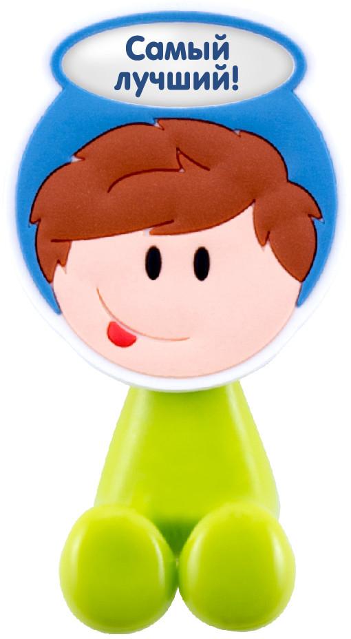 Держатель для зубной щетки Би-Хэппи Самый лучший, 4 х 6 х 3,5 смД-5Держатель для зубной щетки Би-Хэппи - это яркий, оригинальный и практичный аксессуар, выполнен в виде мультяшных мальчишек и девчонок,от которых будут в восторге не только дети, но и взрослые. Разместив в своей ванной комнате держатели для зубных щеток Би-Хэппи, вы получите массу плюсов, к примеру:- зубная щетка каждого из членов семьи будет иметь свое место;- гигиенические свойства личного аксессуара будут сохранены на длительный период времени;- обстановка в комнате станет позитивней;- держатель крепится с помощью присоски, поэтому в любой момент, при желании, его можно переместить в другое место;- малыш будет с удовольствием выполнять рутинные гигиенические процедуры.Держатель для зубной щетки Би-Хэппистанет отличным подарком для большой и крепкой семьи.
