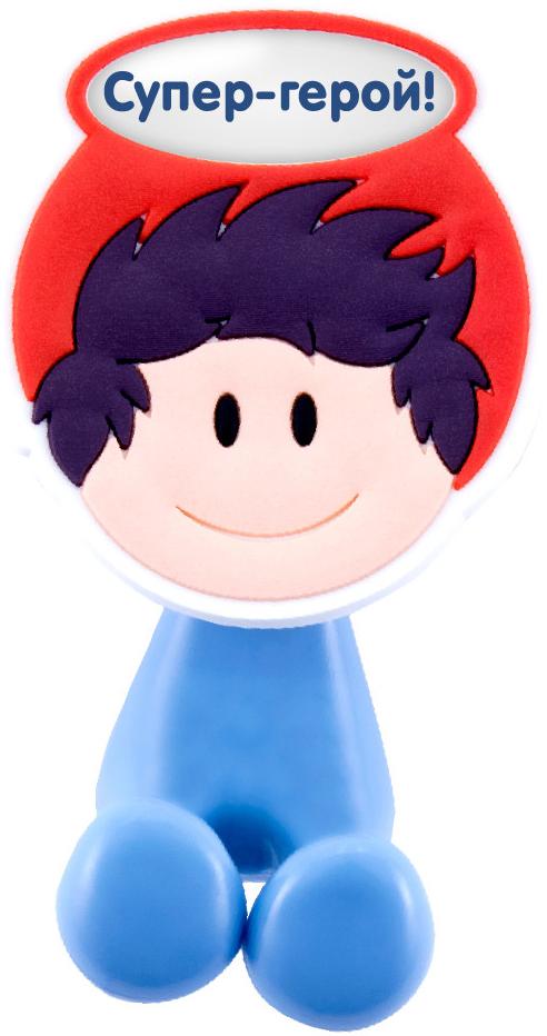 Держатель для зубной щетки Би-Хэппи Супер-герой!, 4 х 6 х 3,5 см держатель для зубной щетки би хэппи поля 4 х 6 х 3 5 см