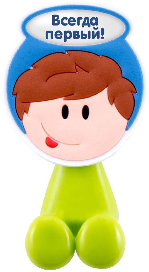 Держатель для зубной щетки Би-Хэппи - это яркий, оригинальный и практичный аксессуар, выполнен в виде мультяшных мальчишек и девчонок,  от которых будут в восторге не только дети, но и взрослые.   Разместив в своей ванной комнате держатели для зубных щеток Би-Хэппи, вы получите массу плюсов, к примеру:  - зубная щетка каждого из членов семьи будет иметь свое место;  - гигиенические свойства личного аксессуара будут сохранены на длительный период времени;  - обстановка в комнате станет позитивней;  - держатель крепится с помощью присоски, поэтому в любой момент, при желании, его можно переместить в другое место;  - малыш будет с удовольствием выполнять рутинные гигиенические процедуры.  Держатель для зубной щетки Би-Хэппи  станет отличным подарком для большой и крепкой семьи.