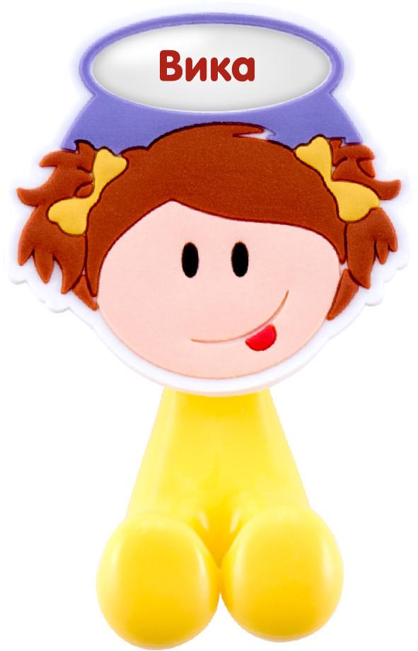 Держатель для зубной щетки Би-Хэппи Вика, 4 х 6 х 3,5 смД-40Держатель для зубной щетки Би-Хэппи - это яркий, оригинальный и практичный аксессуар, выполнен в виде мультяшных мальчишек и девчонок,от которых будут в восторге не только дети, но и взрослые. Разместив в своей ванной комнате держатели для зубных щеток Би-Хэппи, вы получите массу плюсов, к примеру:- зубная щетка каждого из членов семьи будет иметь свое место;- гигиенические свойства личного аксессуара будут сохранены на длительный период времени;- обстановка в комнате станет позитивней;- держатель крепится с помощью присоски, поэтому в любой момент, при желании, его можно переместить в другое место;- малыш будет с удовольствием выполнять рутинные гигиенические процедуры.Держатель для зубной щетки Би-Хэппистанет отличным подарком для большой и крепкой семьи.