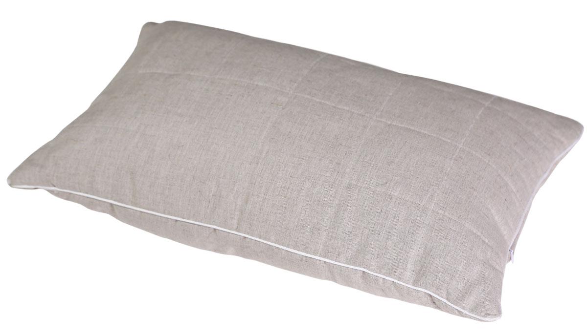 Подушка Bio-Textiles Полезный сон, наполнитель: лебяжий пух, цвет: бежевый, 50 х 70 см. PSL737 подушки bio textiles подушка здоровый сон с искусственным лебяжьим пухом и овечьим мехом размер 40х40