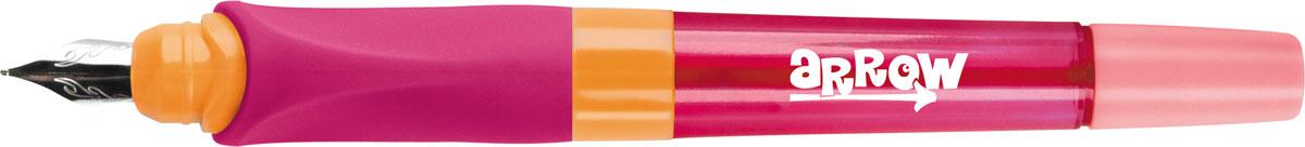 Berlingo Ручка перьевая Arrow со сменным картриджем цвет розовый247666Яркая перьевая ручка в пластиковом корпусе. Эргономичный мягкий трехгранный грип гарантирует комфортный захват и удобство использования ручки детьми. Иридиевый наконечник обеспечивает мягкое, ровное письмо. Прозрачные детали корпуса позволяют контролировать расход чернил. Сменный картридж.