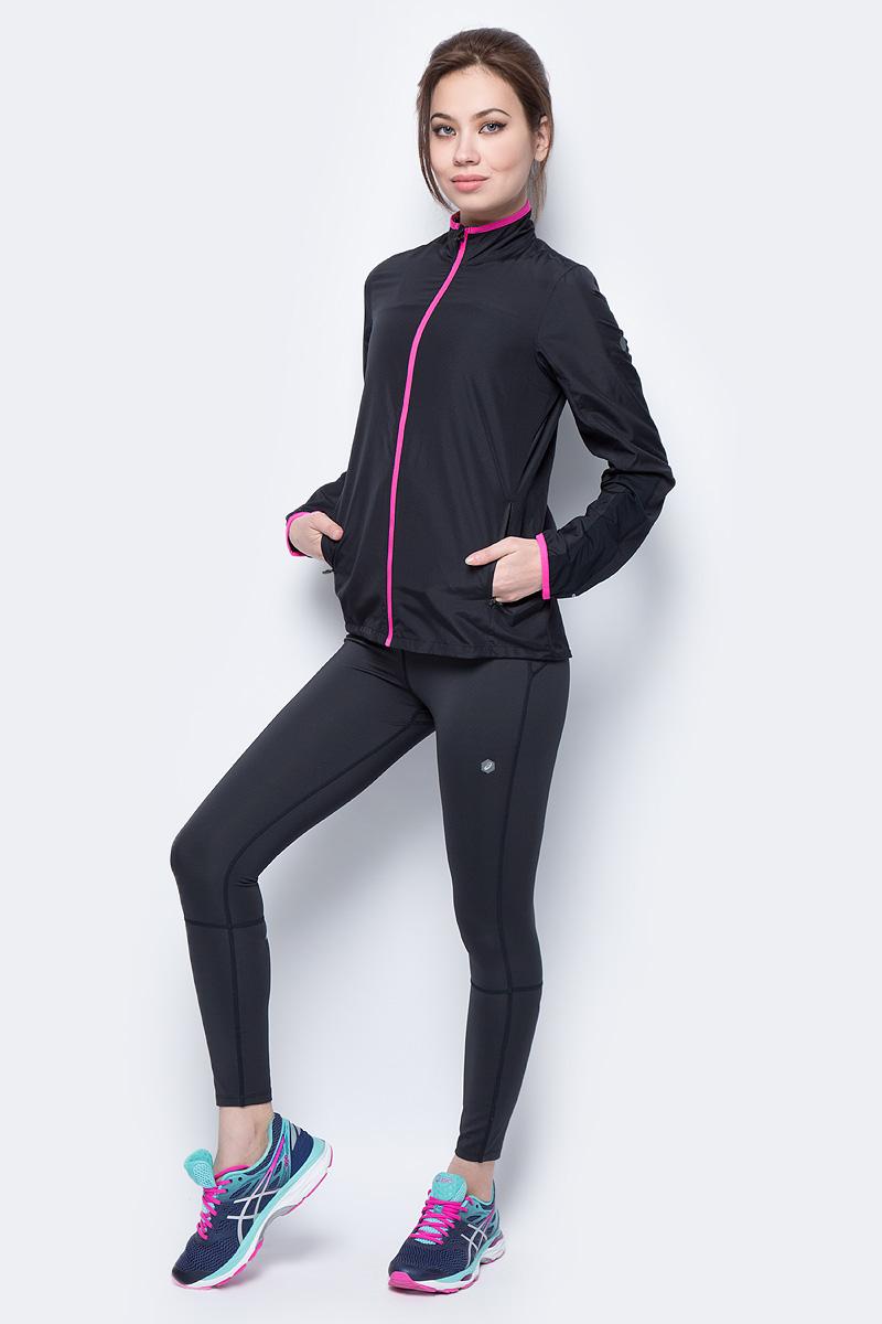 Ветровка женская Asics Jacket, цвет: черный. 154255-0914. Размер XL (50)154255-0914