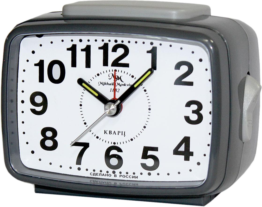Будильник кварцевый Mikhail Moskvin, цвет: серый. 2816/1 мужские часы mikhail moskvin gepard 1236a11l4