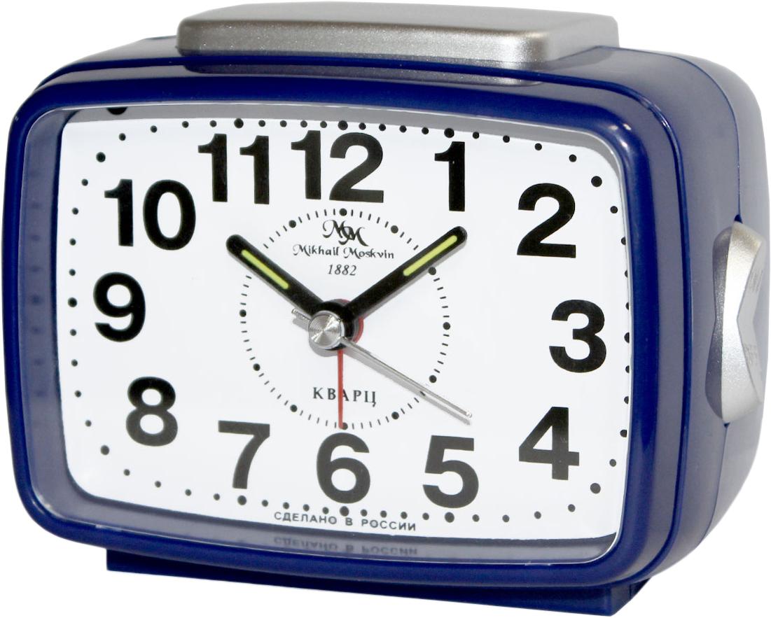 Будильник кварцевый Mikhail Moskvin, цвет: синий. 2816/22816/2Отечественный двухзвонковый будильник с надежным кварцевым механизмом - это не только функциональное устройство, но и оригинальный элемент декора, который великолепно впишется в интерьер вашего дома. . Он снабжен четырьмя стрелками: часовой, минутной, секундной и стрелкой завода.
