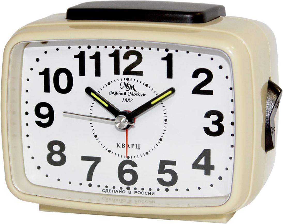 Будильник кварцевый Mikhail Moskvin, цвет: бежевый. 2816/6 настенные часы mikhail moskvin 7048ака2