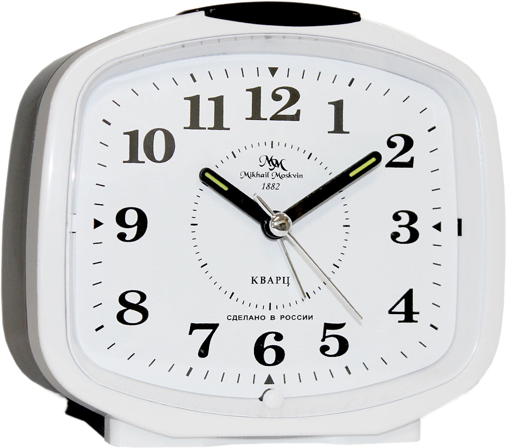 Будильник кварцевый Mikhail Moskvin, цвет: белый. 382/8 женские часы mikhail moskvin 1143s8 b6l2 василина 2