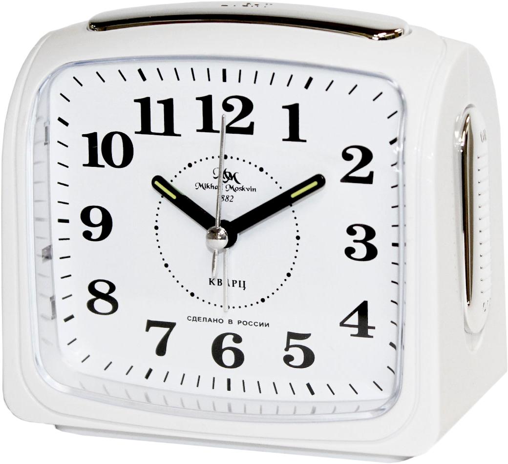 Будильник кварцевый Mikhail Moskvin, цвет: белый. 392/8 женские часы mikhail moskvin 1143s8 b6l2 василина 2