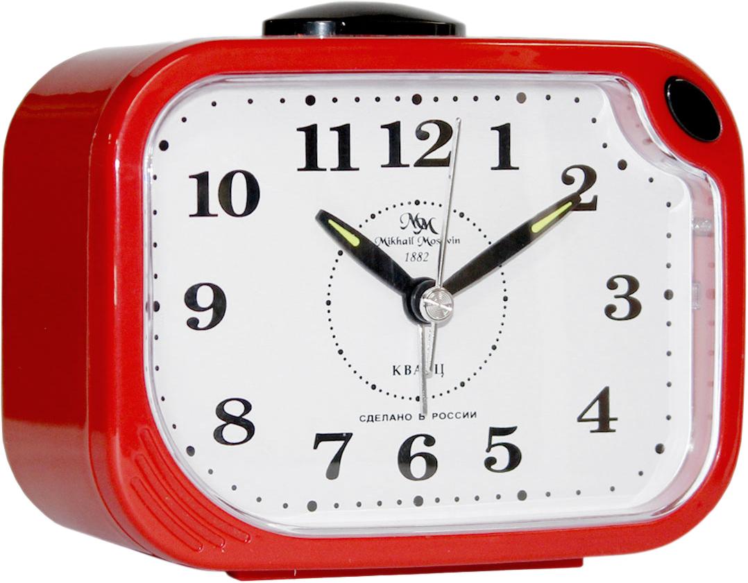 Будильник кварцевый Mikhail Moskvin, цвет: красный. 398/7 настенные часы mikhail moskvin сирена круг 6 2