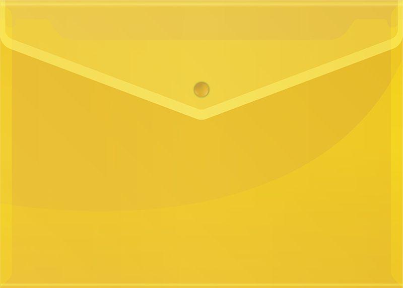 Спейс Папка-конверт на кнопке OfficeSpace формат А4 цвет желтый 10 шт Спейс