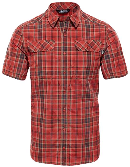 Рубашка мужская The North FaceM S/S Pine Knot, цвет: красный. T92S7X2UM. Размер L (52)T92S7X2UMМужская рубашка The North Face M S/S Pine Knot выполнена из полиэстера с добавлением нейлона. Рубашка с короткими рукавами и отложным воротником застегивается на пуговицы спереди.Рубашка оформлена принтом в клетку. На груди расположены два накладных кармана с клапанами на пуговицах.