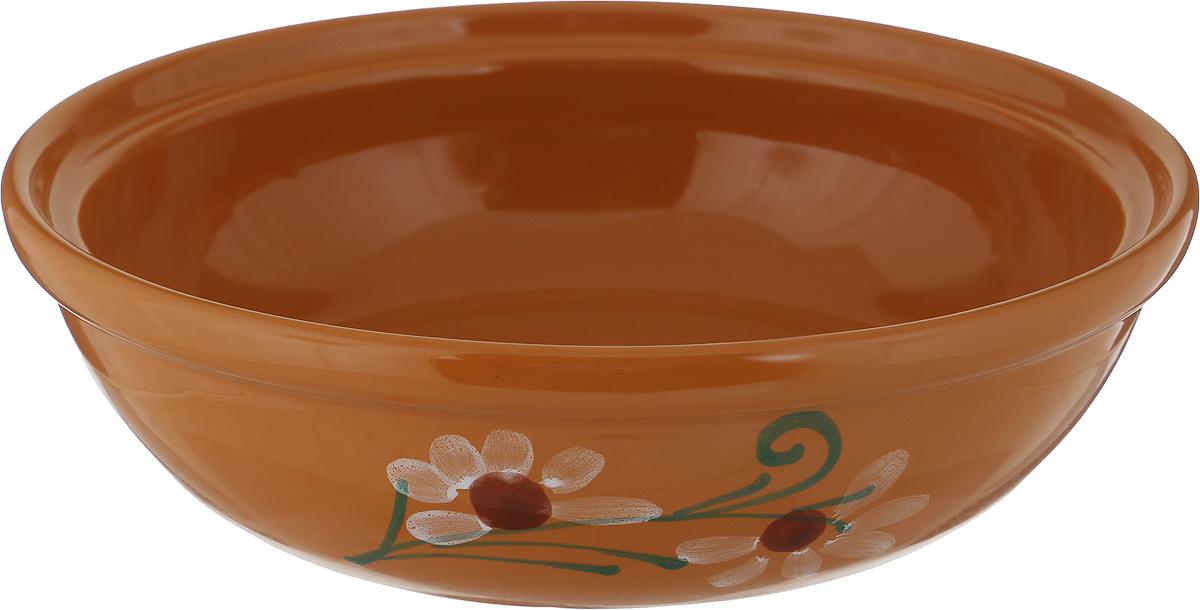 Салатник Борисовская керамика Модерн, цвет: светло-коричневый, 1 л амвит трейд салатник тосканский петух 13х7 см в ассортименте керамика