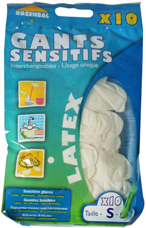 Перчатки хозяйственные Rozenbal, малые, латексные, 10 шт. R105816 перчатки stella перчатки