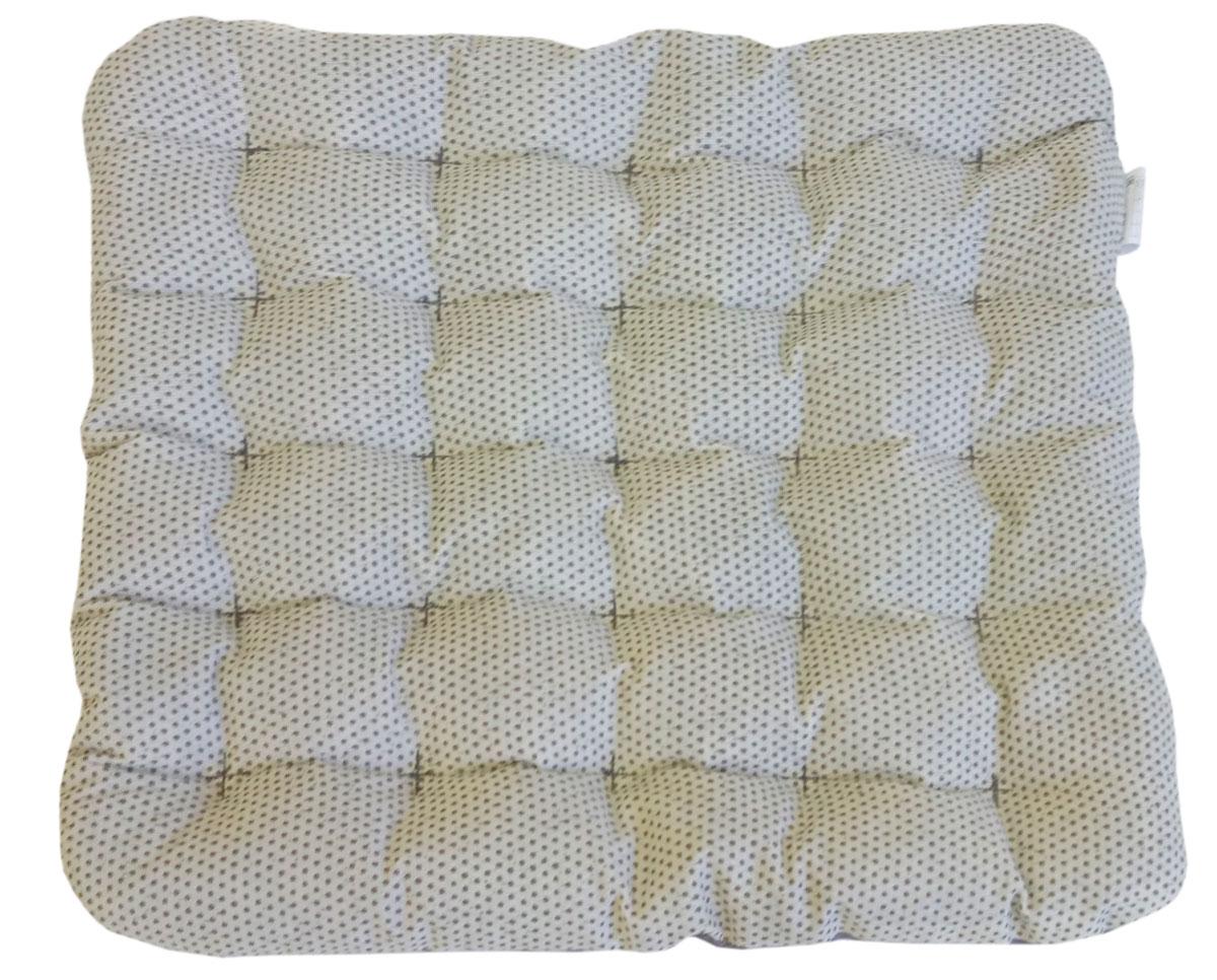 """Подушка на стул Bio-Textiles """"Био"""" с массажным эффектом, наполнитель: лузга гречихи, цвет: светло-серый, 40 х 40 см. PEK019"""