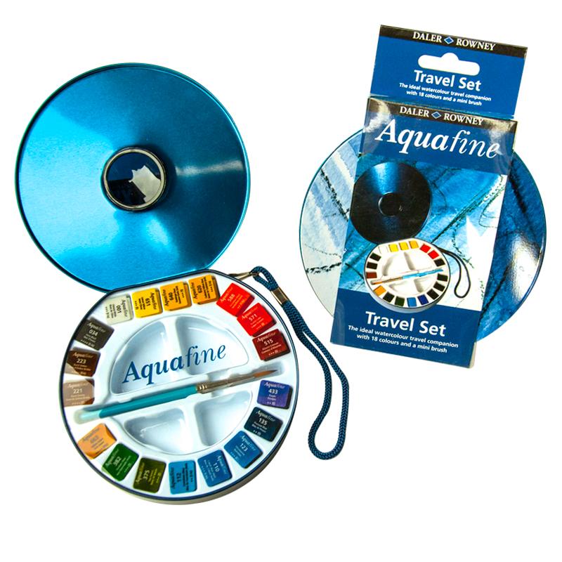 Daler Rowney Дорожный набор акварельных красок Aquafine 18 цветов -  Краски
