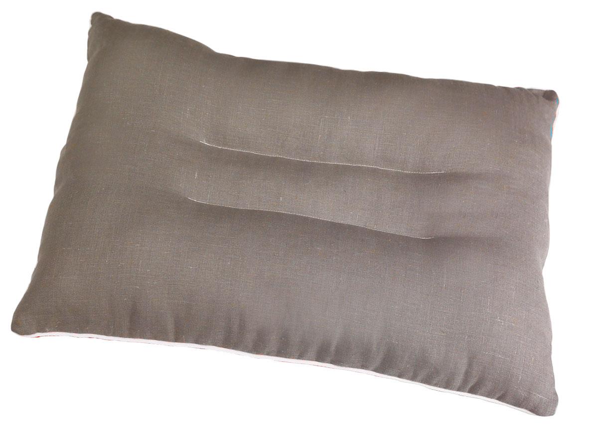 Подушка ортопедическая Bio-Textiles Магия солнца Blue, наполнитель: лебяжий пух, цвет: бирюзовый, 50 х 70 см. АМ490АМ490