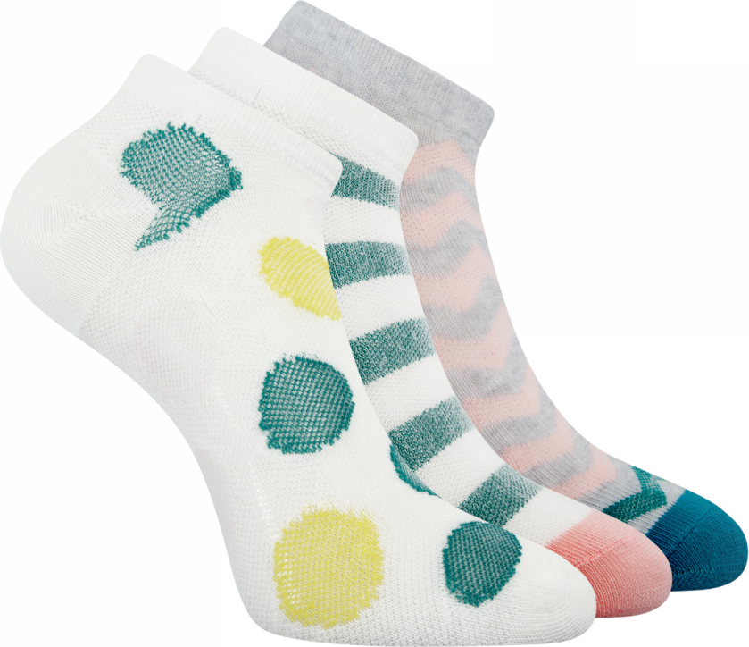 Носки женские oodji Ultra, цвет: белый, зеленый, 3 пары. 57102458T3/42237/1262G. Размер 35/3757102458T3/42237/1262GНабор от oodji состоит из трех пар укороченных хлопковых носков. Приятный на ощупь тонкий хлопковый трикотаж немного тянется и хорошо сидит благодаря добавлению эластана. Хлопковые носки пропускают воздух, хорошо впитывают влагу и прекрасно подходят для разных погодных условий. Они изящно подчеркивают лодыжки, не сползают и не ощущаются во время носки. В этих носках вам будет комфортно и тепло.