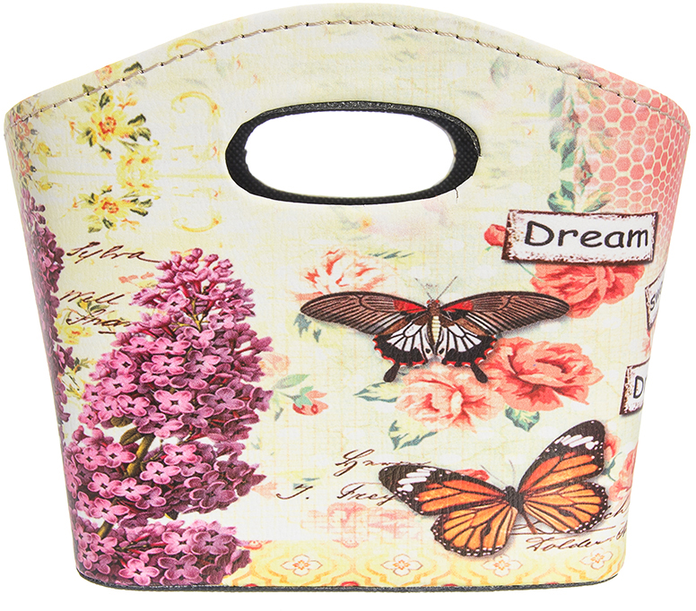 Сумочка интерьерная для хранения El Casa Сирень с бабочками, 20 х 11 х 16 см el casa косметичка сумочка розовая