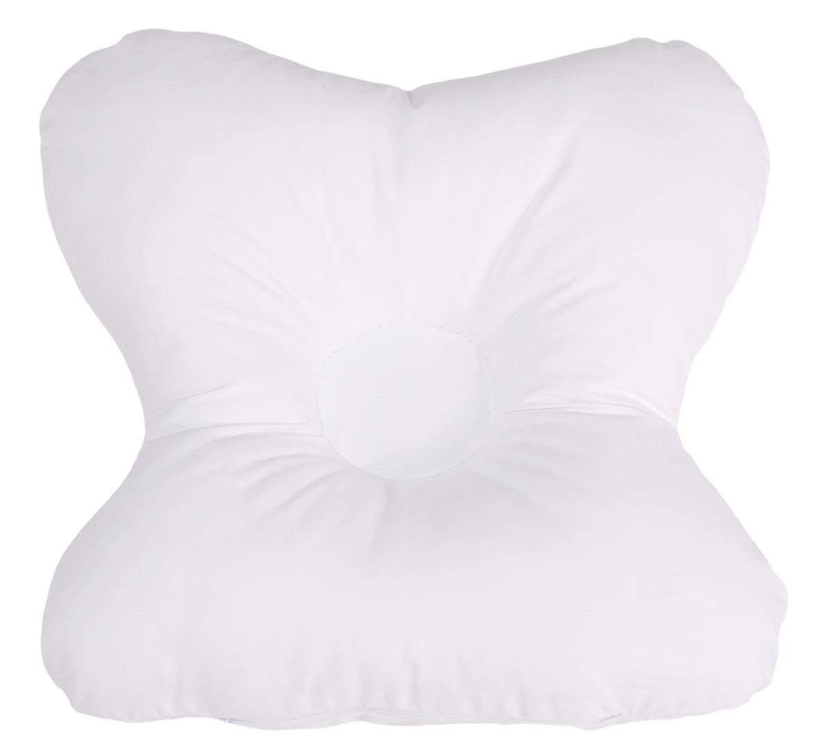 Bio-Textiles Подушка детская Малютка, наполнитель: лебяжий пух; цвет: белый. 27 х 24 см. M094