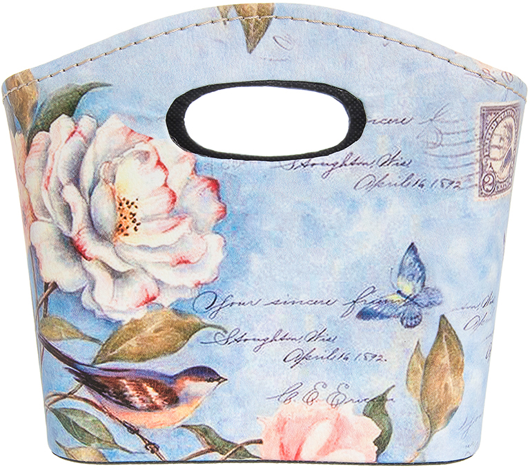Сумочка интерьерная для хранения El Casa Дикая роза с птичкой, 20 х 11 х 16 см el casa косметичка сумочка розовая с узором