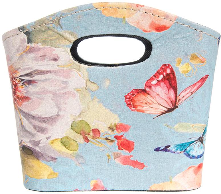 Сумочка интерьерная для хранения El Casa Дикая роза и две бабочки, 20 х 11 х 16 см el casa косметичка сумочка розовая