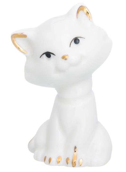 Фигурка декоративная Elan Gallery Белая кошка, 5 х 4,5 х 8 см менажница elan gallery белый шиповник на крутящейся подставке 5 секций